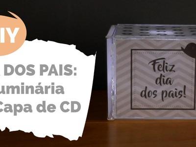 DIY DOS PAIS | Luminária de case de CD | Por GavetaMix