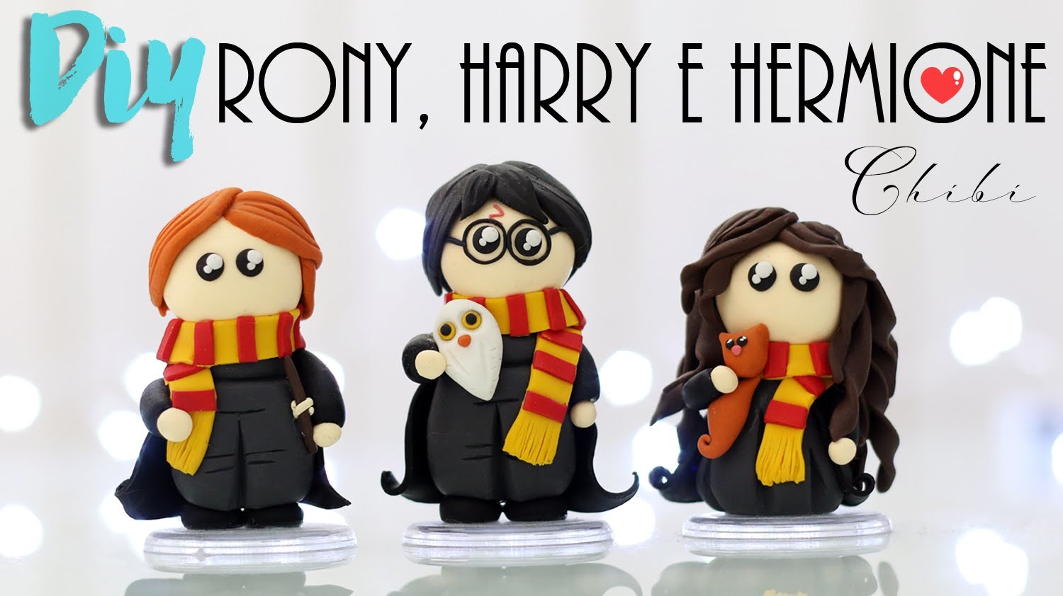 DIY: Harry Potter, Rony e Hermione Chibi - Toy Art em Biscuit - #potterweek