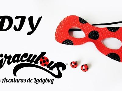 DIY: MIRACULOUS LADYBUG - Brincos e Máscara da Ladybug (Mask and Earrings Tutorial)