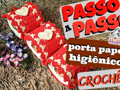 PAP PORTA PAPEL HIGIÊNICO em CROCHÊ - DIY - TUTORIAL completo- crochê