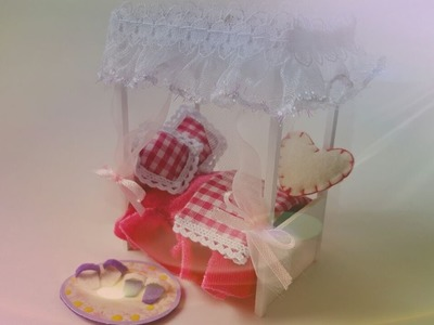 #6 DIY Miniature Items -Dollhouse Bedroom- Miniatura Cama