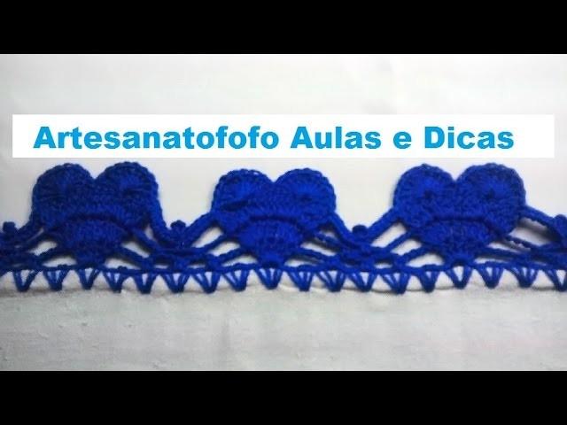 Bico de crochê corações - PUNTILLA DE CORAZONES - CROCHÊ 54
