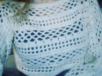Cropped de croche Parte 2. Crochet Shrug.Crochet croptop