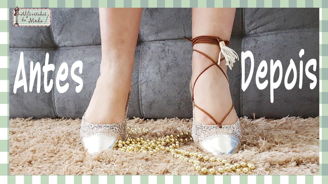 Curso de Corte e Costura - Passo a Passo - DIY - Como fazer uma sapatilha gladiadora???