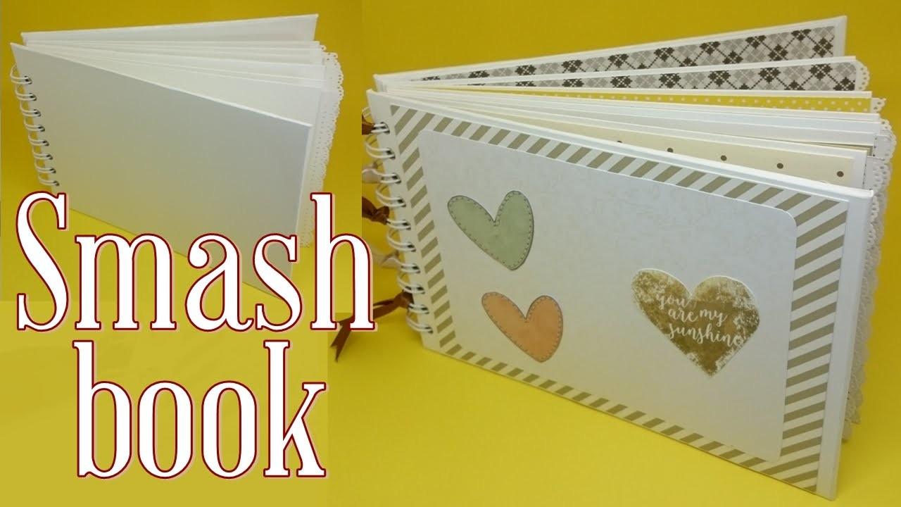 DIY | Álbum Scrapbook | Smash book Estrutura parte 1