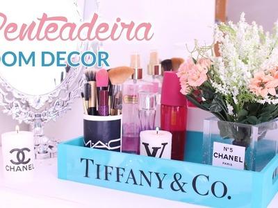 DIY: DECORAÇÃO DE PENTEADEIRA - Chanel, Tiffany & Co | Room Decor #4 | Por Lorena Lima