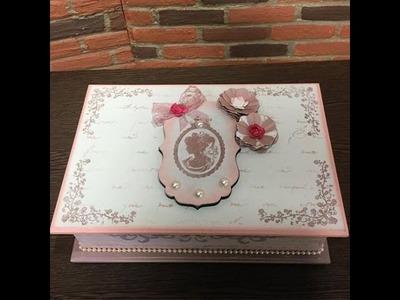 DIY: Faça você mesmo - Craquelê Rústico com carimbos e stencil - Caixa de chá - Parte 1