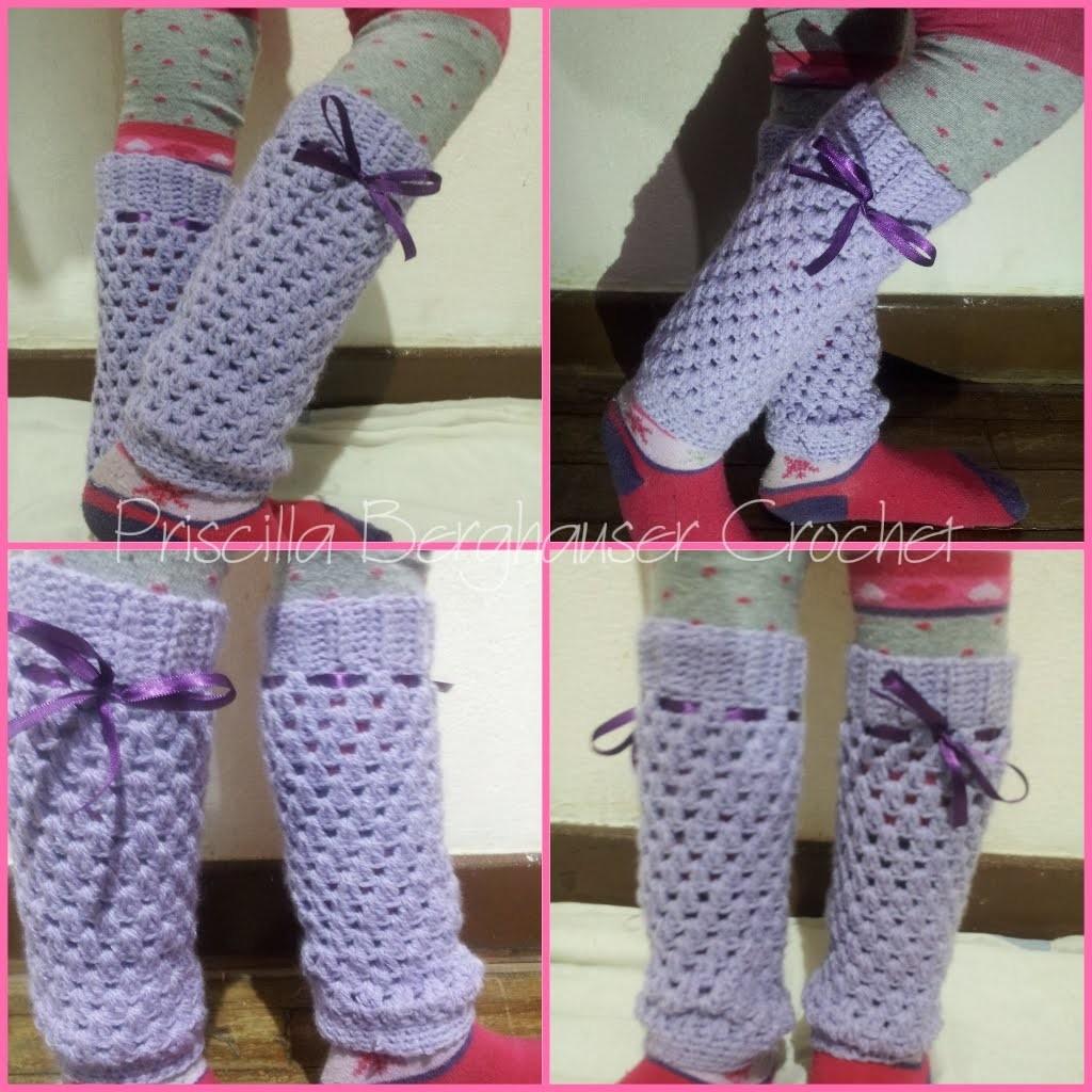 Polaina em croche infantil.Crochet legwarmers for kids