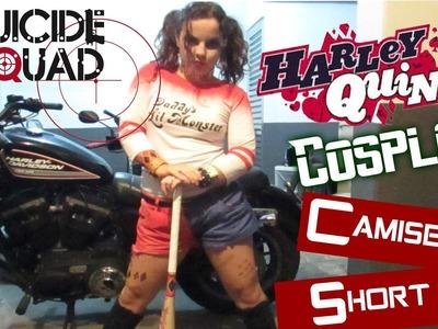 Camiseta e Short Harley Quinn :: DIY :: COSPLAY - Arlequina ESQUADRÃO SUICIDA