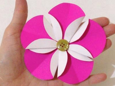 Como Fazer Flores Fáceis de Papel Passo a Passo - DIY Artesanatos