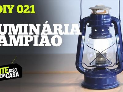Como fazer LUMINÁRIA usando um LAMPIÃO velho | Tente Isso em Casa #DIY