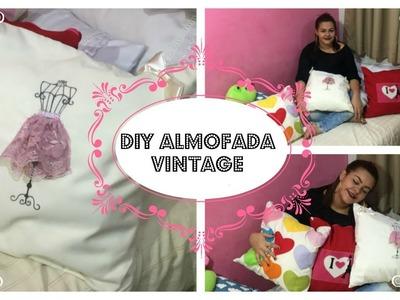 DIY ALMOFADA DECORATIVA VINTAGE! POR: MARIANA SIQUEIRA