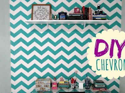 DIY CHEVRON: Mudando a parede com Stencil Decor | Decor Feelings