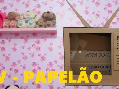DIY CRAFT - PAPELÃO: Como fazer uma TV de papelão? #04