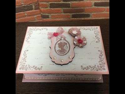 DIY: Faça você mesmo - Craquelê Rústico com carimbos e stencil - Caixa de chá - Parte 2
