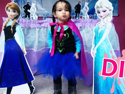 DIY: FANTASIA ANNA FROZEN SEM COSTURA (FÁCIL) #eicustomizei