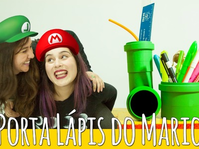 DIY Geek: Porta lápis do Super Mario | Porta treco