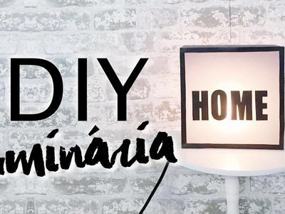 DIY - LUMINÁRIA INDUSTRIAL E MAIS