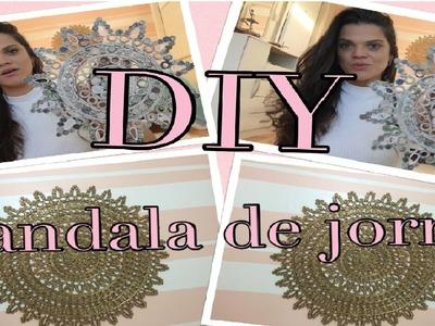 """""""DIY""""  Mandala feita de jornal"""