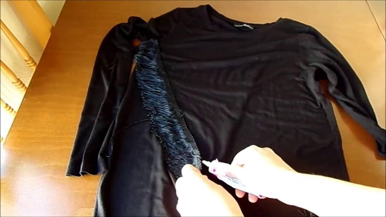 Diy:maxi blusa com franja