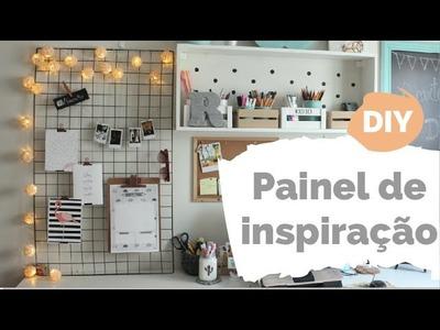DIY POCKET | Painel de inspirações com grade | Por GavetaMix
