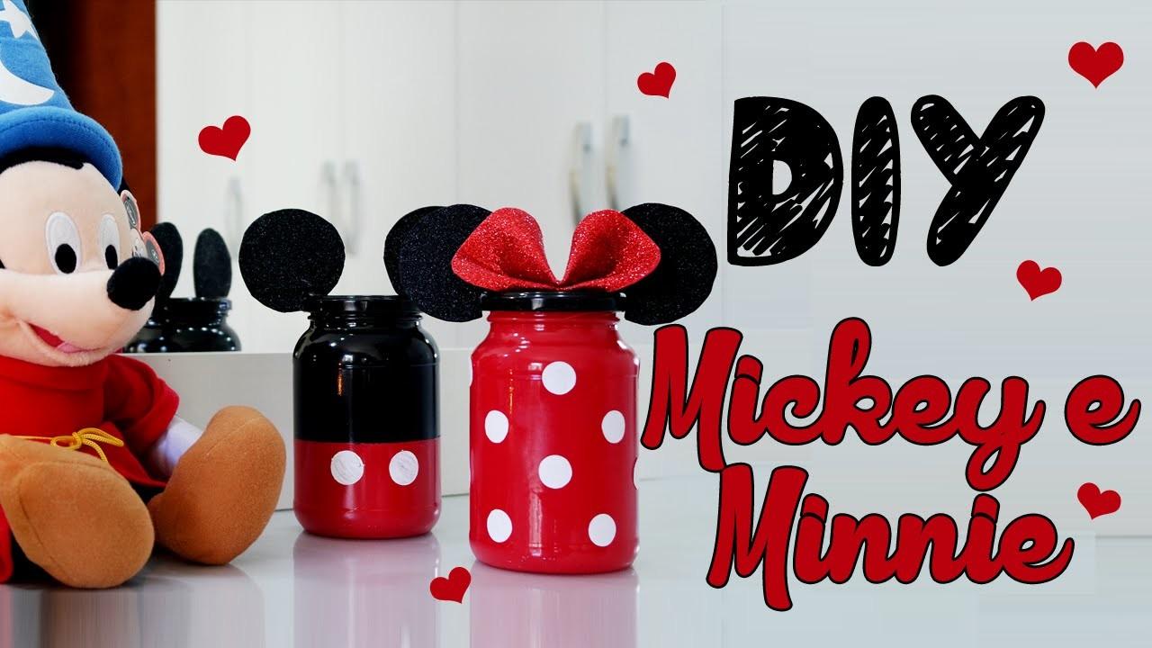 DIY POTINHO DO MICKEY E DA MINNIE | Camilla Scalise