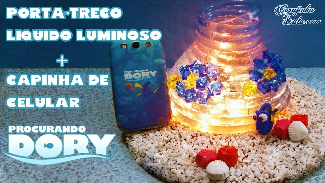 DIY Procurando Dory: Como fazer Luminária. Porta treco Líquido Luminoso + Capinha   Corujices da Lu
