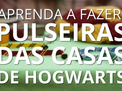 DIY: Pulseiras das Casas de Hogwarts
