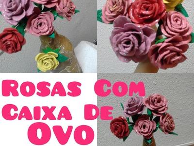 Diy Reciclagem Rosas de Caixa de Ovo- Denise Cardozo