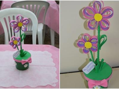 Enfeite de mesa flor de EVA - festa Tinker Bell DIY | Sayury Mendes