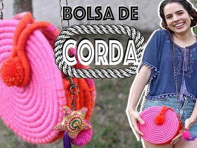 DIY: BOLSA DE CORDA! Linda e fácil! #1 | Paula Stephânia