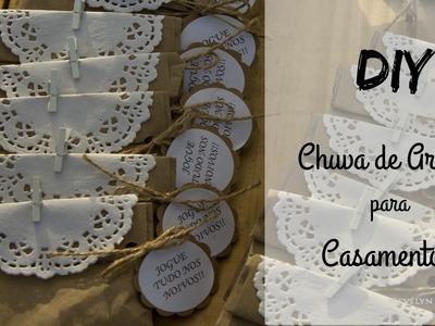DIY - Chuva de Arroz para Casamentos!
