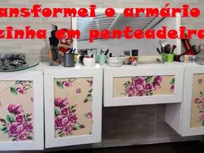 DIY: Transformei o armário de cozinha em penteadeira. #DEVA 20