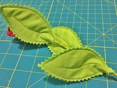 Como fazer Folhas de Tecido. D.I.Y. How to make fabric leaves