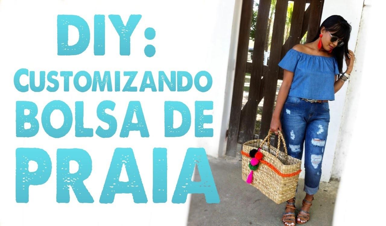 DIY: CUSTOMIZANDO BOLSA DE PRAIA