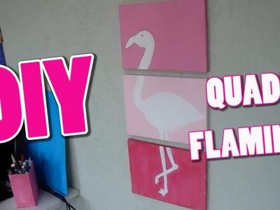DIY quadro flamingo