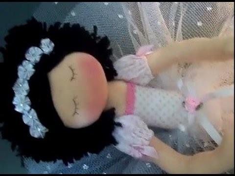 Bailarina  de pano. magrela (Diy)