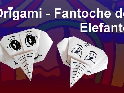 Como fazer Origami de Fantoche de Elefante.