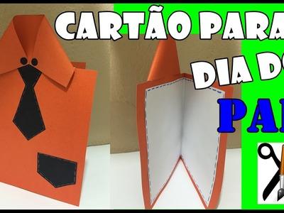 DIY: Cartão para o dia dos pais (Cartão Camisa)-Lucas E.V.Arts
