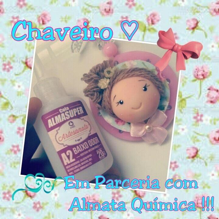 DIY - Chaveiro boneca fofa -parceria Almata Química