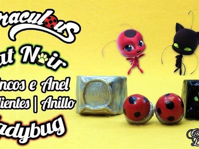 DIY Miraculous: Como fazer os brincos da Ladybug e o anel do Cat Noir | Corujices da Lu