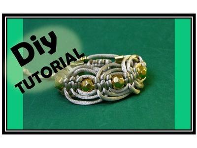 Diy -Tutorial Shambala Bracelete de Macamê
