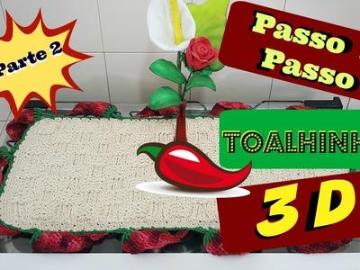 Pap toalhinha 3D com pimentas- Parte 2 -croche DIY