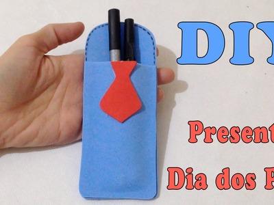 Porta Caneta em Papel EVA Presente Dia dos Pais - Artesanato DIY