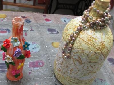 Artesanato: Como fazer decorações com garrafas de vidro