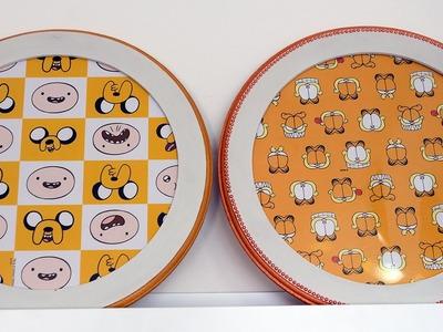 Artesanato: Quadros com Papel de Presente l Hora da Aventura e Garfield