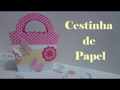 Cestinha de papel para lembrancinhas - Scrapbook - Faça você mesmo | DIY
