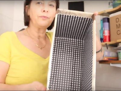 DIY Caixa Organizadora àrea de serviço ✂️ Artesanato