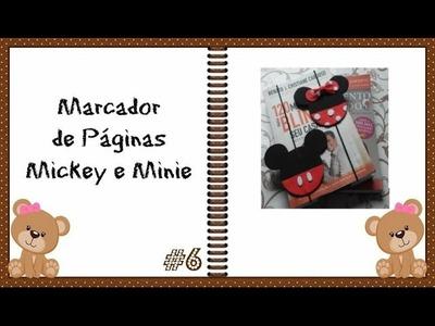 DIY Faça Você Mesmo: Marcador de Páginas Mickey e Minie ✂