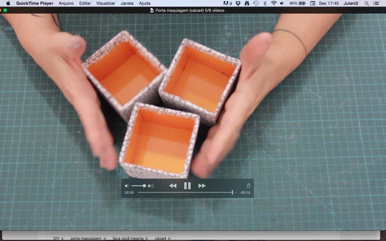 DIY Porta maquiagem (caixa4)  #5.6 ✂️ Artesanato